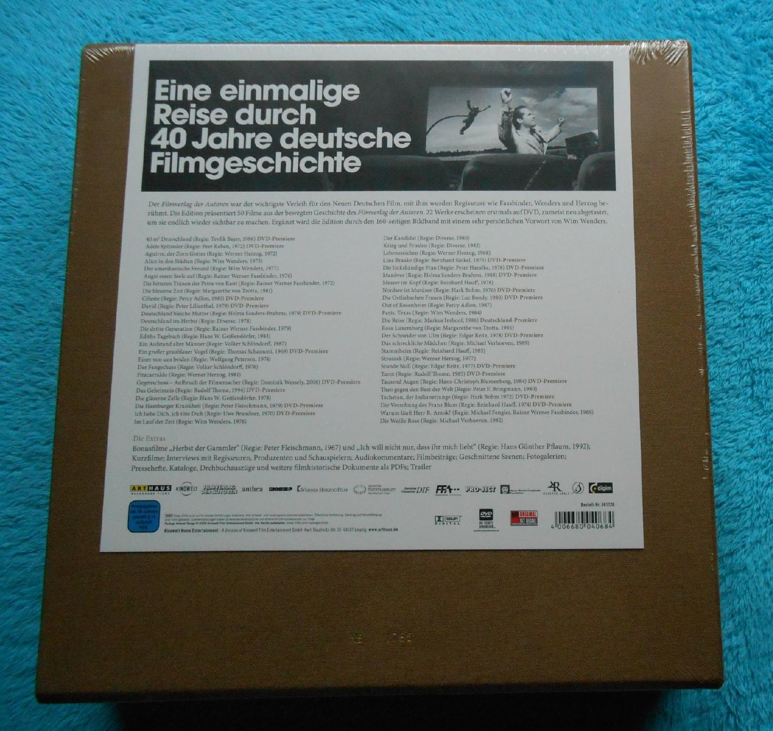Filmverlag der Autoren EDITION limitiert 50 DVDs HERZOG FASSBINDER ...